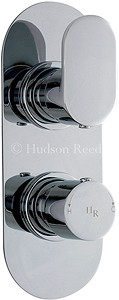 Hudson Reed Reign Twin Concealed Thermostatic Shower Valve (Chrome).
