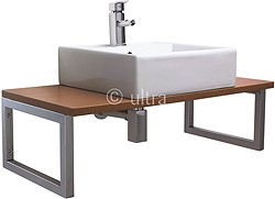 Ultra Vanity Sets Vanity Shelf With Square Basin 900mm (Calvados Brown).