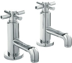 Hudson Reed Tec Basin Faucets With Cross Handles.