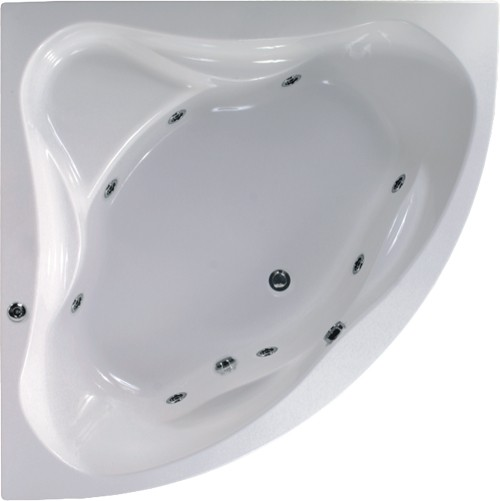 Additional image for Corner Whirlpool Bath. 8 Jets. 1400x1400mm.