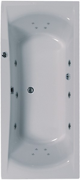 Additional image for Aquamaxx Turbo Whirlpool Bath. 14 Jets. 1700x750mm.