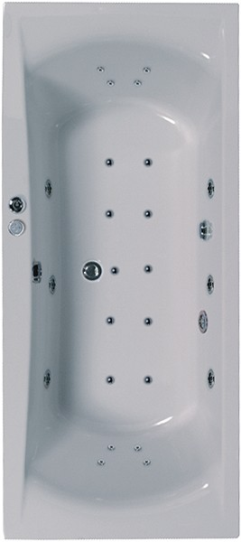 Additional image for Eclipse Double Ended Whirlpool Bath. 24 Jets. 1900x900mm.