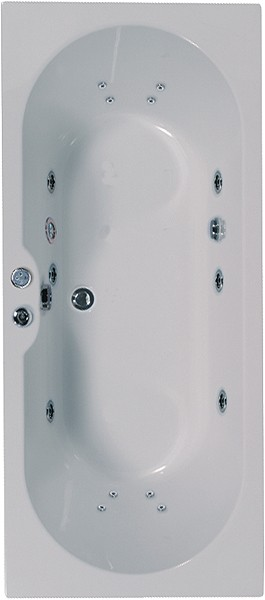 Additional image for Double Ended Whirlpool Bath. 14 Jets. 1700x750mm.