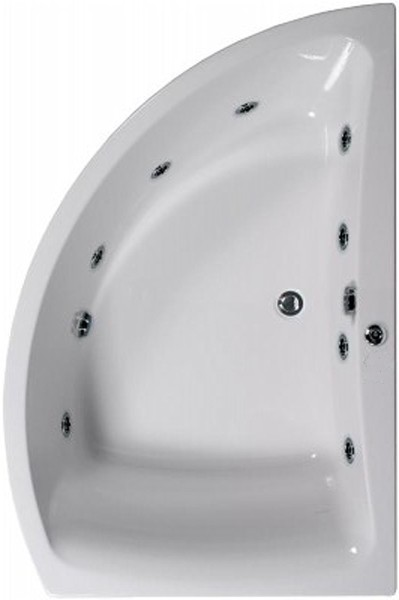 Additional image for Aquamaxx Corner Whirlpool Bath, 8 Jets. Right Handed.