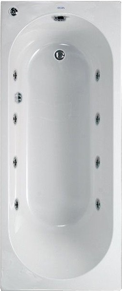 Additional image for Aquamaxx Whirlpool Bath. 8 Jets. 1700x700mm.