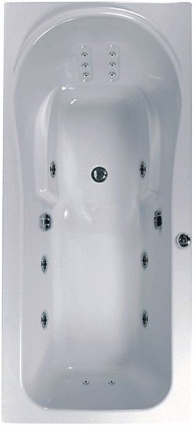 Additional image for Large Whirlpool Bath. 14 Jets. 2000x900mm.
