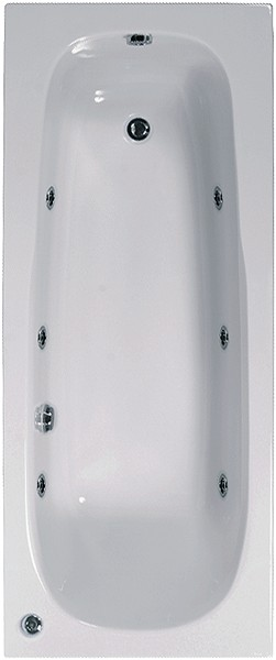 Additional image for Aquamaxx Whirlpool Bath. 6 Jets. 1600x700mm.