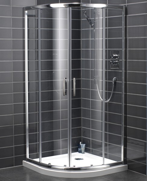 Additional image for 900mm Quadrant Shower Enclosure With Sliding Doors (Silver).