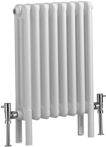 Additional image for Nero 3 Column Bathroom Radiator (White). 400x600mm.