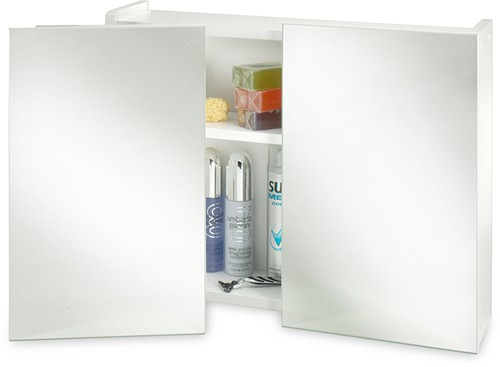 Additional image for Mirror Bathroom Cabinet. 2 Swivel Doors. 600x470x160mm.