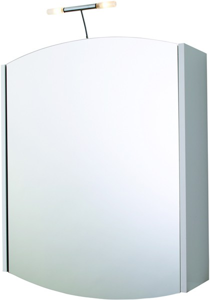 Additional image for Mirror Bathroom Cabinet, Light & Shaver.  600x730x150mm.
