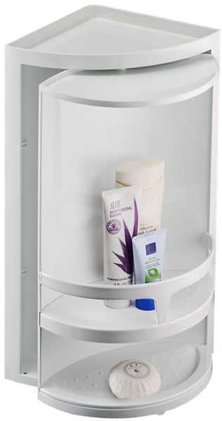 Additional Image For Corner Rotating Bathroom Storage Unit 300x490x210mm