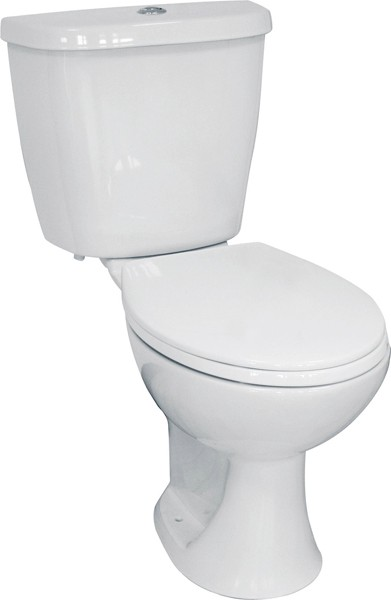 Additional image for Modern Toilet With Dual Flush Cistern & Seat.