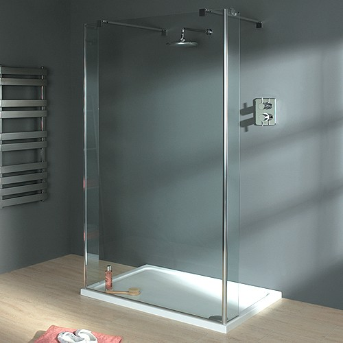 Additional image for Wet Room Glass Shower Screen, 1000x1950. 750mm Arms.