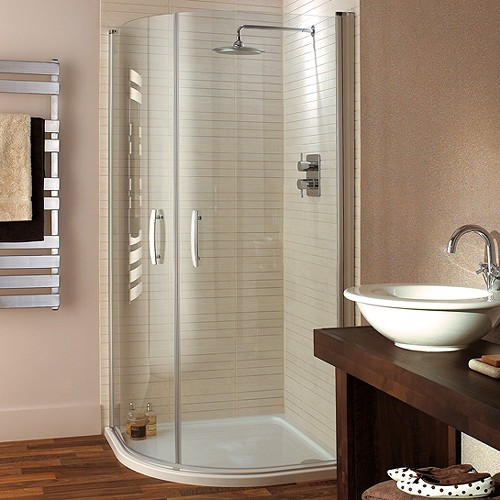 Additional image for Quadrant Shower Enclosure, Hinged Doors & Tray (900mm).