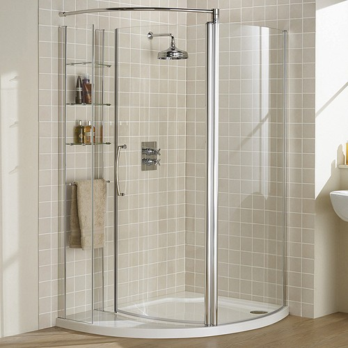 Additional image for Left Hand 1255x965 Compartment Shower Enclosure & Tray.