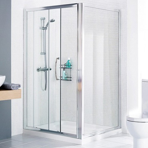 Additional image for 1000x900 Shower Enclosure, Slider Door & Tray (Right Handed).