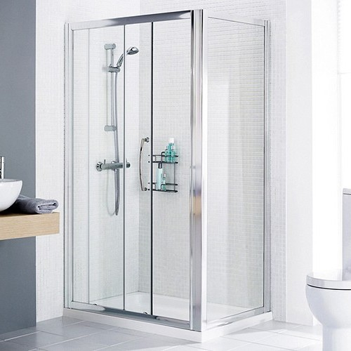 Additional image for 1400x800 Shower Enclosure, Slider Door & Tray (Right Handed).