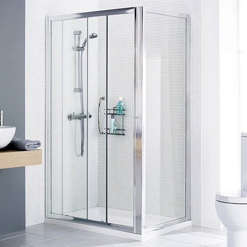 Additional image for 1700x750 Shower Enclosure, Slider Door & Tray (Right Handed).