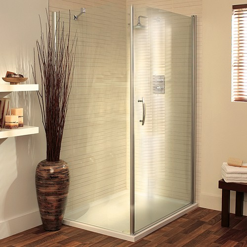 Additional image for 900x800 Shower Enclosure With Pivot Door & Tray (Silver).