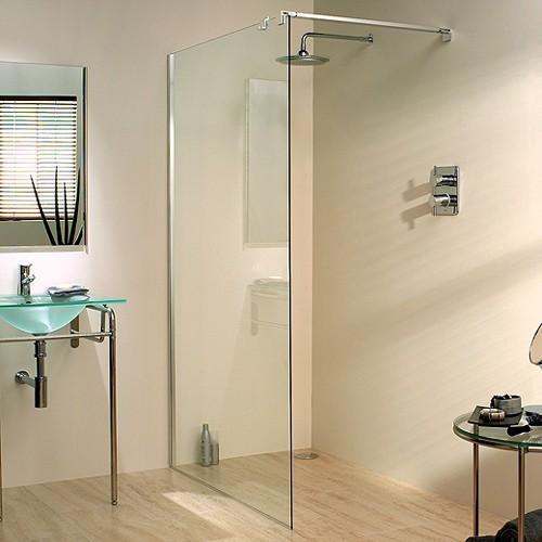 Additional image for 1200x1950 Glass Shower Screen & 800mm Arm. Left Handed.