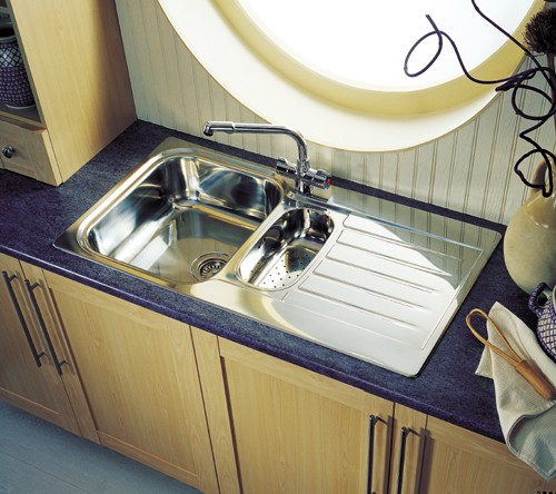 Seattle 1 5 Bowl Stainless Steel Kitchen Sink Reversible Leisure Sinks Ls Se9502polbathroom And Kitchen Faucets