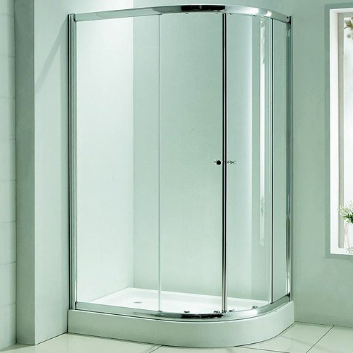 Additional image for Offset Quadrant Shower Enclosure, 1200x800mm.