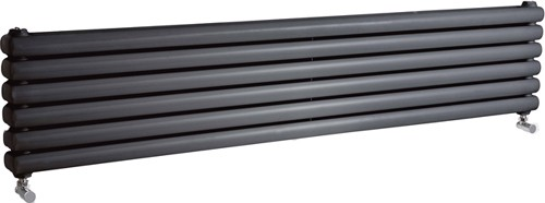 Additional image for Peony Double Radiator. 6702 BTU (Anthracite). 1800mm Wide.