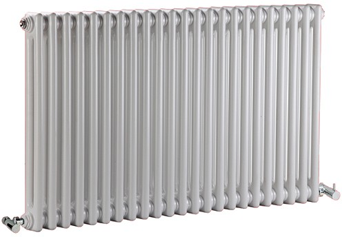 Additional image for Regency 2 Column Radiator (White). 1055x600mm. 4897 BTU.