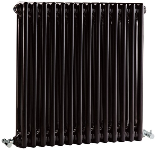 Additional image for Regency 2 Column Radiator (Black). 650x600mm. 2981 BTU.