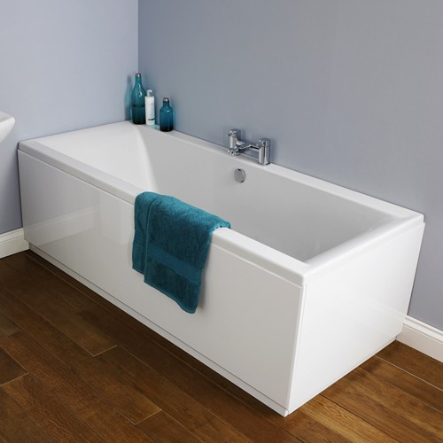 Additional image for Asselby Double Ended Acrylic Bath. 1700x750mm.