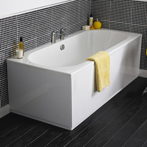 Additional image for Otley Double Ended Acrylic Bath & Panels. 1700x750mm.