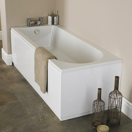 Additional image for Barmby Single Ended Acrylic Bath. 1600x700mm.