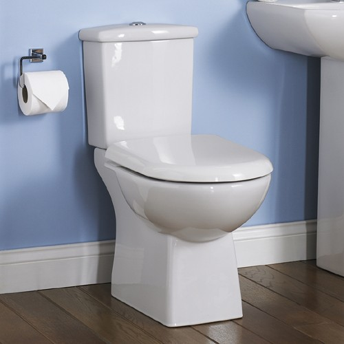 Additional image for Asselby Toilet With Dual Push Flush Cistern & Seat.
