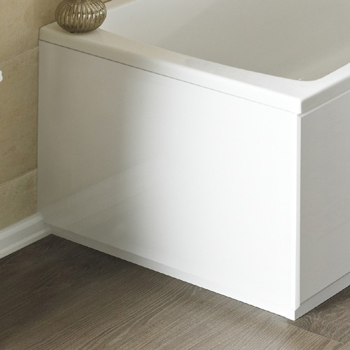 Additional image for 900mm End Bath Panel (White, MDF).