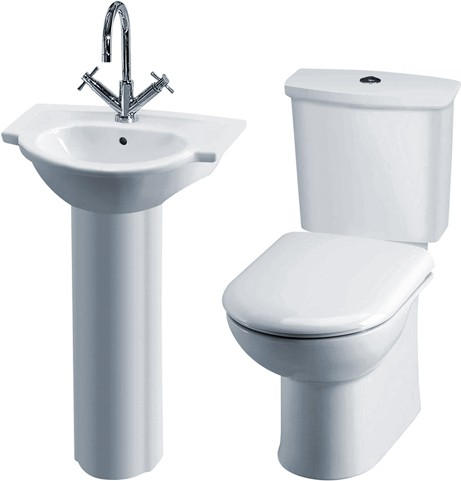 Additional image for Linton 4 Piece Bathroom Suite With Toilet, Seat & 500mm Basin.