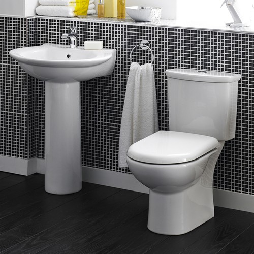 Additional image for Otley 4 Piece Bathroom Suite With Toilet & 600mm Basin.