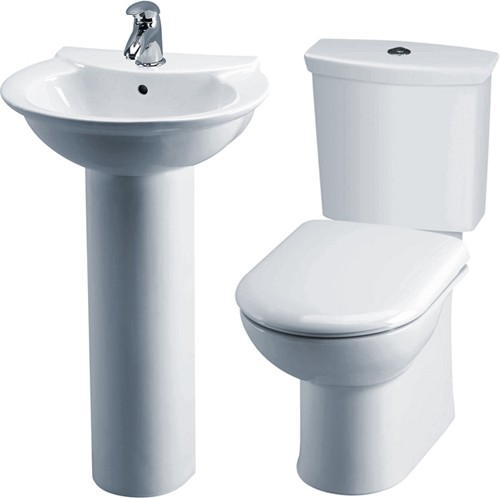 Additional image for Otley 4 Piece Bathroom Suite With Toilet & 500mm Basin.