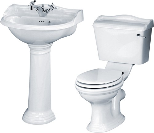 Additional image for Ryther 4 Piece Bathroom Suite With 600mm Basin (1 Faucet Hole).