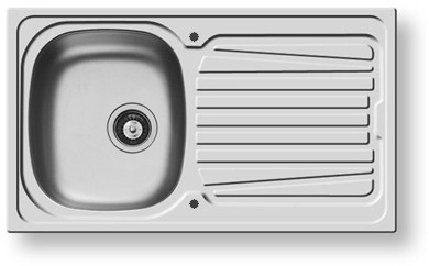 Additional image for Sparta Kitchen Sink & Waste. 860x500mm (Reversible, 1 Faucet Hole).