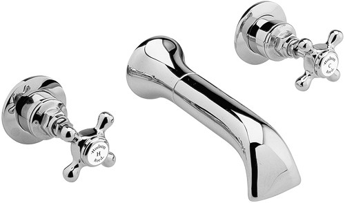 Additional image for 3 faucet hole wall mounted bath mixer faucet