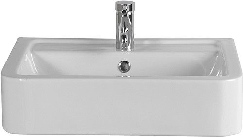 Additional image for Free Standing Basin (1 Faucet Hole).  Size 580x460mm.