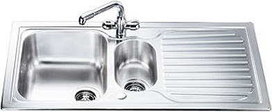 Additional image for Cucina 1.5 Bowl Stainless Steel Kitchen Sink, Reversible.