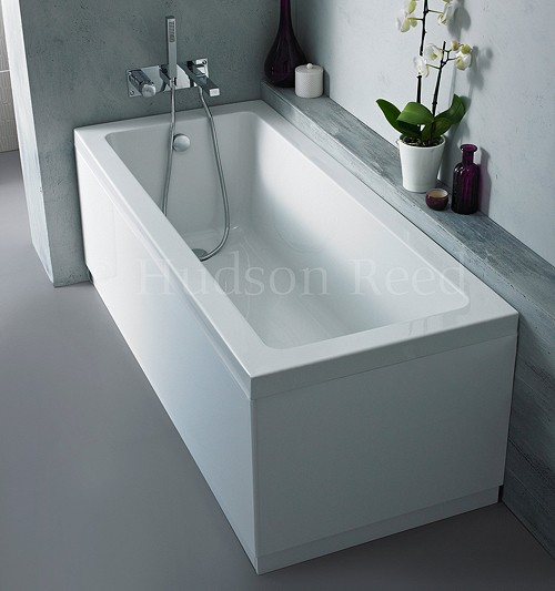 Additional image for Single Ended Acrylic Bath & White Panels. 1700x700mm