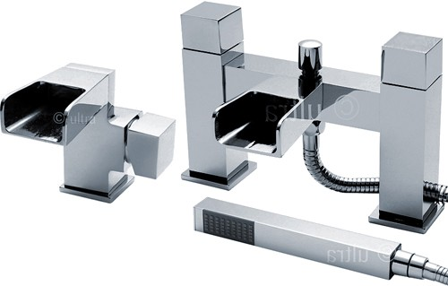 Additional image for Waterfall Basin & Bath Shower Mixer Faucet Set (Free Shower Kit).