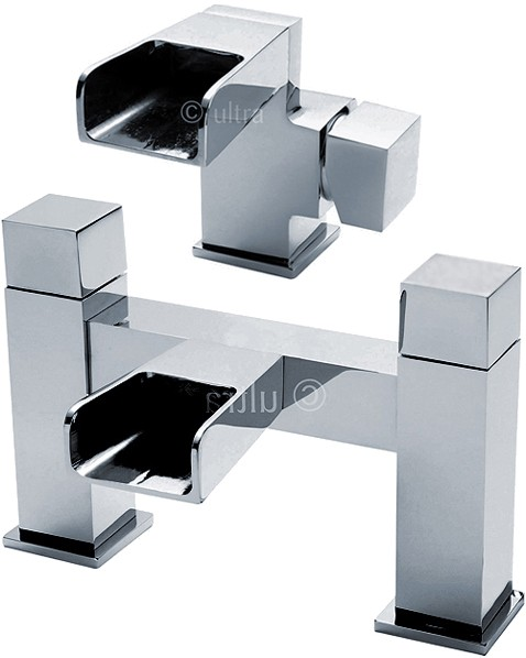 Additional image for Waterfall Basin & Bath Filler Faucet Set (Chrome).