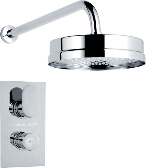 Additional image for Twin Thermostatic Shower Valve & Fixed Shower Head.