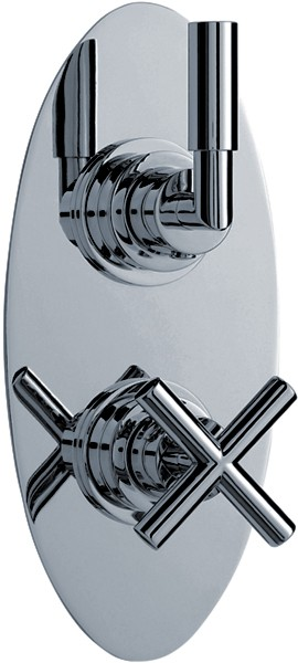 "Additional image for 3/4"" Twin Concealed Thermostatic Shower Valve With Diverter."