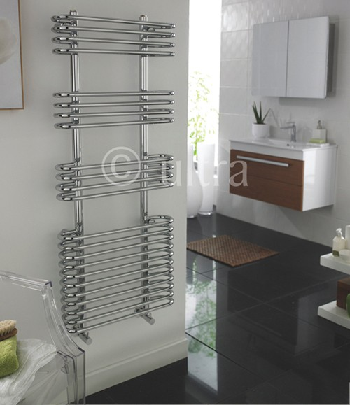 Additional image for Sway Heated Towel Rail (Chrome). 500x1200mm.