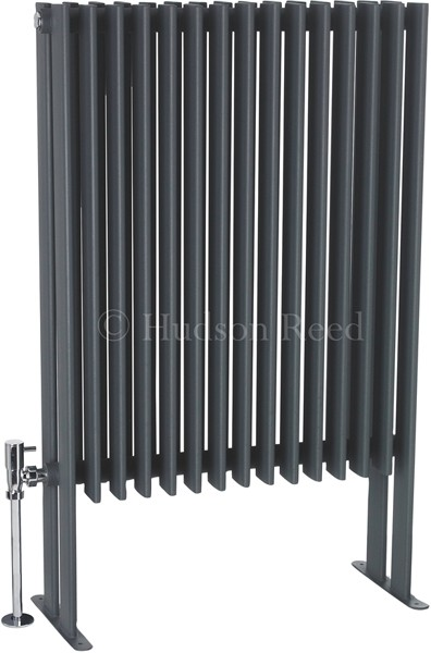 Additional image for Fin Floor Mounted Radiator (Anthracite). 570x900mm.